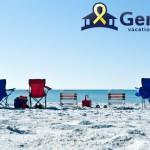 photo of chairs on beach