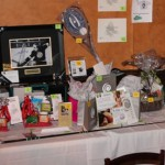 framed art and other items at silent auction