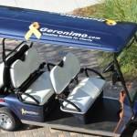 geronimo logo on golf cart roof