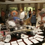 sports related items at silent auction