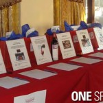 bidding at table at silent auction fundraiser event